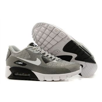 promo code e210c 8e35e Nike Air Max 90 Jacquard Mens Gray White Black Hot Canada