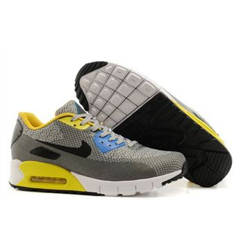 best website d7cfd 5c433 Nike Air Max 90 Jacquard Mens Gray Yellow Black Hot Uk