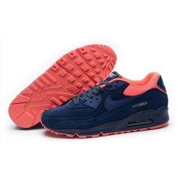 Nike Air Max 90 Mens Shoes Hot On Sale Dark Blue Pink Italy 0796311e6