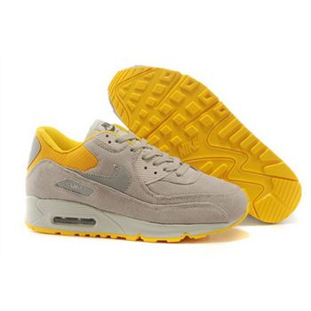 low priced 449f6 49c94 Nike Air Max 90 Mens Shoes Hot On Sale Light Gray Yellow Canada