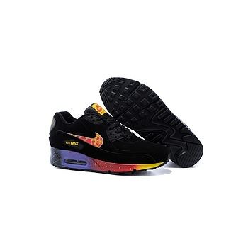 Nike Air Max 90 Menss Shoes Black Purple Mago Red New Greece