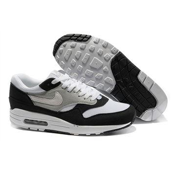 check out 641bb 154bd Buy Online Men s Nike Air Max 1 Shoes Gray White Black Cheap Sale
