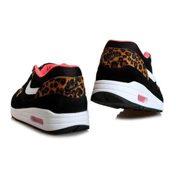 Wholesale Cheap Men's Nike Air Max 1 Shoes Black Leopard