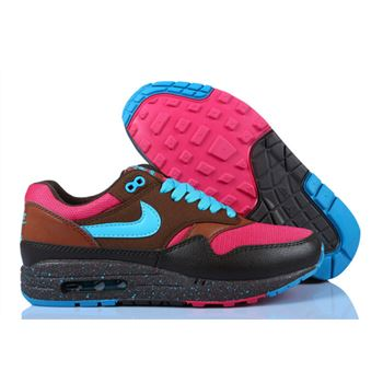 Best Price Women's Nike Air Max 1 Shoes Coffee Blue Pink Online Retail