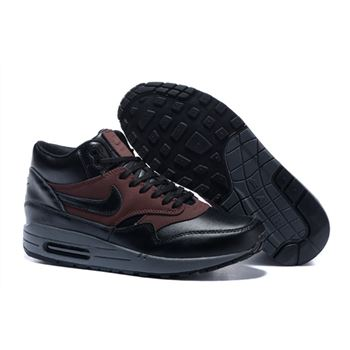 Discount Women's Nike Air Max 1 Mid FB Boots Black/Brown 726411-002 Restock Sale