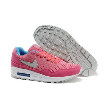 Cheap Retail Women's Nike Air Max 1 EM Running Shoes Pink/White/Blue 554718-009 For Sale Online