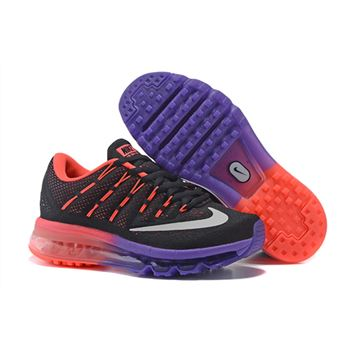 new style 6365a 7eeed 806771 308 Nike Air Max 2016 Black coral Purple Running Shoe For Women s