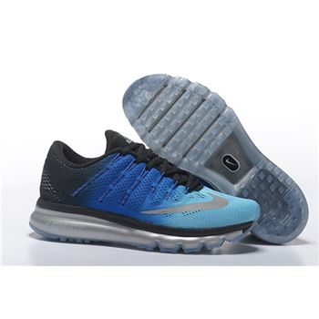 5fc42f533f7e Men Nike Air Max 2016 Running Shoes Sky Blue Black Blue Silver 806771 332