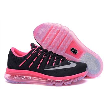 Nike Air Max 2016 806772 016 Black Rosy Red Womens Trainers 74b43a980