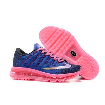 Nike Air Max 2016 820332 500 Women s Deep Night Black Blue Fire Pink  Running Shoe b6641bc5b