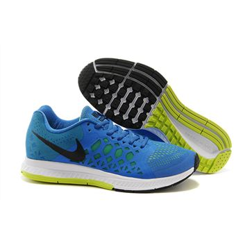 Men's Nike Air Zoom Pegasus 31 Running Shoes Blue/Fluorescence Green/White 652925-400