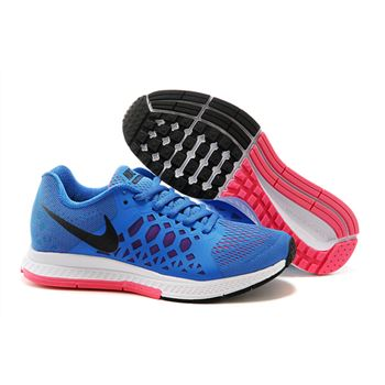 Women's Nike Air Zoom Pegasus 31 Running Shoes Blue/White/Pink 654486-400