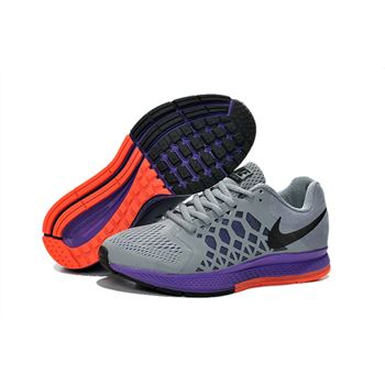 Women's Nike Air Zoom Pegasus 31 Running Shoes Deep Grey/Black/Purple/Orange 654486-003