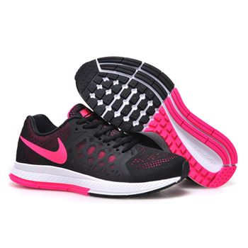 Women's Nike Air Zoom Pegasus 31 Running Shoes Black/Fuchsia 654486-006